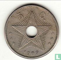 Belgian Congo 5 centimes 1909