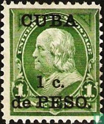 USA-Briefmarken mit Aufdruck