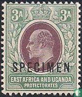 """Koning Edward VII opdruk """"SPECIMEN"""""""