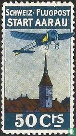 Flugzeug über Aarau