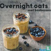 Overnight oats met bosbessen