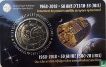 "Belgium 2 euro 2018 (coincard - FRA) ""50 years Launch of the first successful European Satellite ESRO - 2B"""