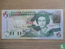 ast Caribbean States 5 Dollars 2003 V