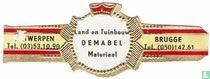 Land en Tuinbouw DEMABEL Materiaal - Antwerpen Tel. (03)53.10.90 - Brugge Tel. (050)142.61