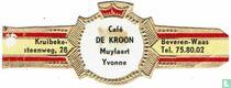 Café De Kroon Muylaert Yvonne - Kruibeke-steenweg,28 - Beveren-Waas Tel. 75.80.02