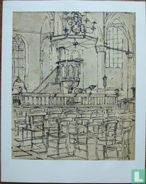 Kerkinterieur te Hoorn