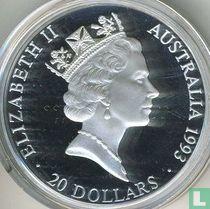 "Australia 20 dollars 1993 (PROOF) ""Olympic medalists"""