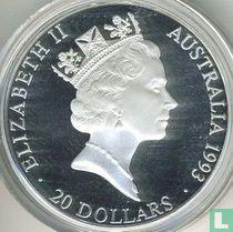 "Australia 20 dollars 1993 (PROOF) ""Olympic swimmers"""
