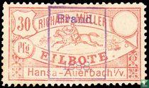 Rijdende bode- Opdruk Brand 1888