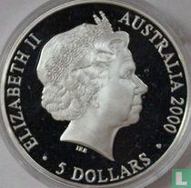 "Australia 5 dollars 2000 (PROOF) ""Summer Olympics in Sydney - Kookaburra"""
