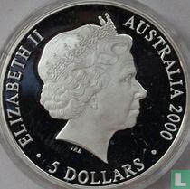 """Australia 5 dollars 2000 (PROOF) """"Summer Olympics in Sydney - Platypus duckbill"""""""
