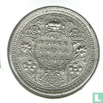 Brits-India ½ rupee 1944L (Lahore)