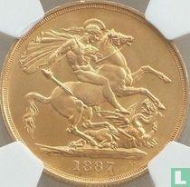 Verenigd Koninkrijk 2 pounds 1887