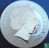 "Australië 1 dollar 2007 (zilver) ""Kangaroo with young"""