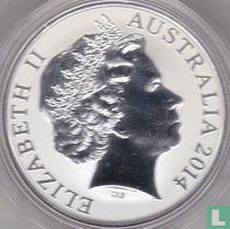 """Australië 1 dollar 2014 """"Kangaroo"""""""