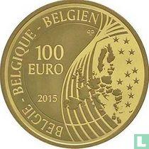 """Belgium 100 euro 2015 (PROOF) """"Portrait of the King Philip"""""""