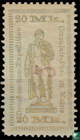 Johann Gutenberg Standbeeld, met opdruk