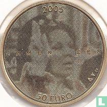 """Netherlands 50 euro 2005 (PROOF) """"25 years Reign of Queen Beatrix"""""""