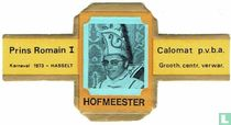 Prins Romain I Karnaval 1973-Hasselt - Calomat p.v.b.a. Grooth. Centr. Verwar.