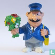 Postman with flowers