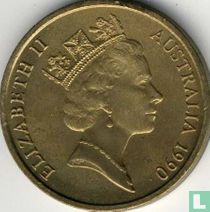 """Australië 5 dollars 1990 """"75 years Australian and New Zealand Army Corps"""""""