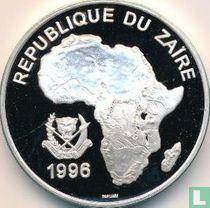 """Zaïre 500 nouveaux zaïres 1996 (BE) """"Wildlife of Africa - Gorilla"""""""