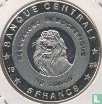 "Congo-Kinshasa 5 francs 1999 (BE) ""Kings of Belgium"""