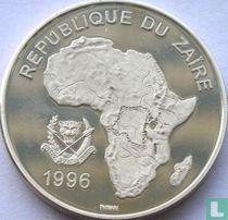 """Zaïre 500 nouveaux zaïres 1996 (BE) """"Wildlife of Africa - Leopard"""""""