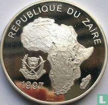 "Zaïre 1000 nouveaux zaïres 1997 (BE) ""1998 Football World Cup in France"""