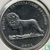 "Congo-Kinshasa 25 centimes 2002 ""Wild dog"""