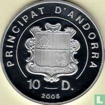 "Andorra 10 diners 2005 (PROOF) ""Habemus papam"""