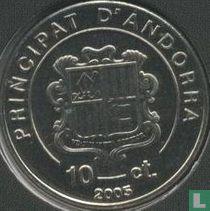 "Andorra 10 cèntims 2005 ""Karol Wojtyla as archbishop 1964 - 1967"""