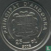 "Andorra 25 cèntims 2005 ""Karol Wojtyla as cardinal 1967 - 1978"""