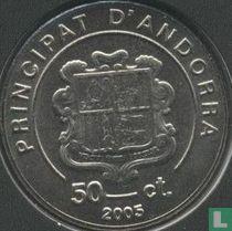 "Andorra 50 cèntims 2005 ""Karol Wojtyla as cardinal 1967 - 1978"""