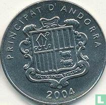 """Andorra 10 cèntims 2004 """"Casa de la Vall"""""""