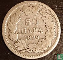 Servië 50 para 1879
