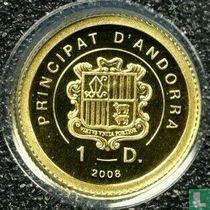 "Andorra 1 diner 2008 (PROOF) ""St. Peter's basilica"""