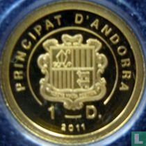 """Andorra 1 diner 2011 (PROOF) """"190th Anniversary of the death of Napoleon"""""""