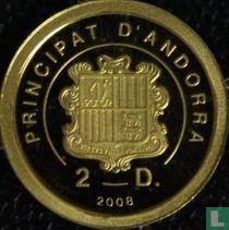 """Andorra 2 diners 2008 (PROOF) """"Ludwig van Beethoven"""""""