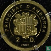 """Andorra 2 diners 2008 (PROOF) """"150th anniversary Lourdes visions"""""""
