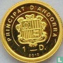 "Andorra 1 diner 2010 (PROOF) ""Statue of Liberty"""