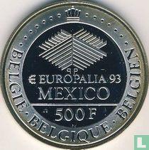 "Belgium 500 francs 1993 (PROOF) ""Europalia - Mexico Exposition"""