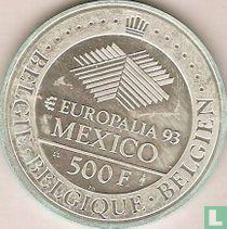 """Belgium 500 francs 1993 """"Europalia - Mexico Exposition"""""""