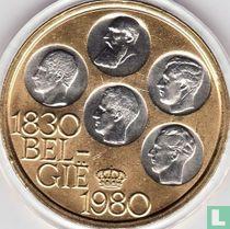 """België 500 francs 1980 (PROOF - gekleurd) """"150th Anniversary of Independence"""""""