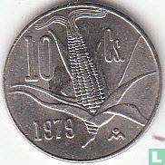 Mexico 10 centavos 1979 (stompe stam van de maiskolf - kleine datum)