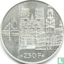 """België 250 francs 1999 """"40th wedding anniversary of King Albert II and Queen Paola"""""""