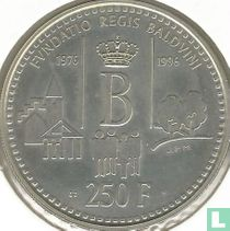 """Belgium 250 francs 1996 """"20th anniversary of the King Baudouin Foundation"""""""