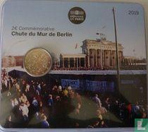 """Frankrijk 2 euro 2019 (coincard) """"30 years Fall of Berlin wall"""""""