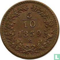 Austria 5/10 kreuzer 1859 (E)