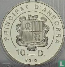 """Andorra 10 diners 2010 (PROOF) """"Tennis becomes Olympic discipline in 1896"""""""